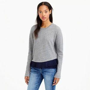[J. Crew] ruffle hem sweatshirt